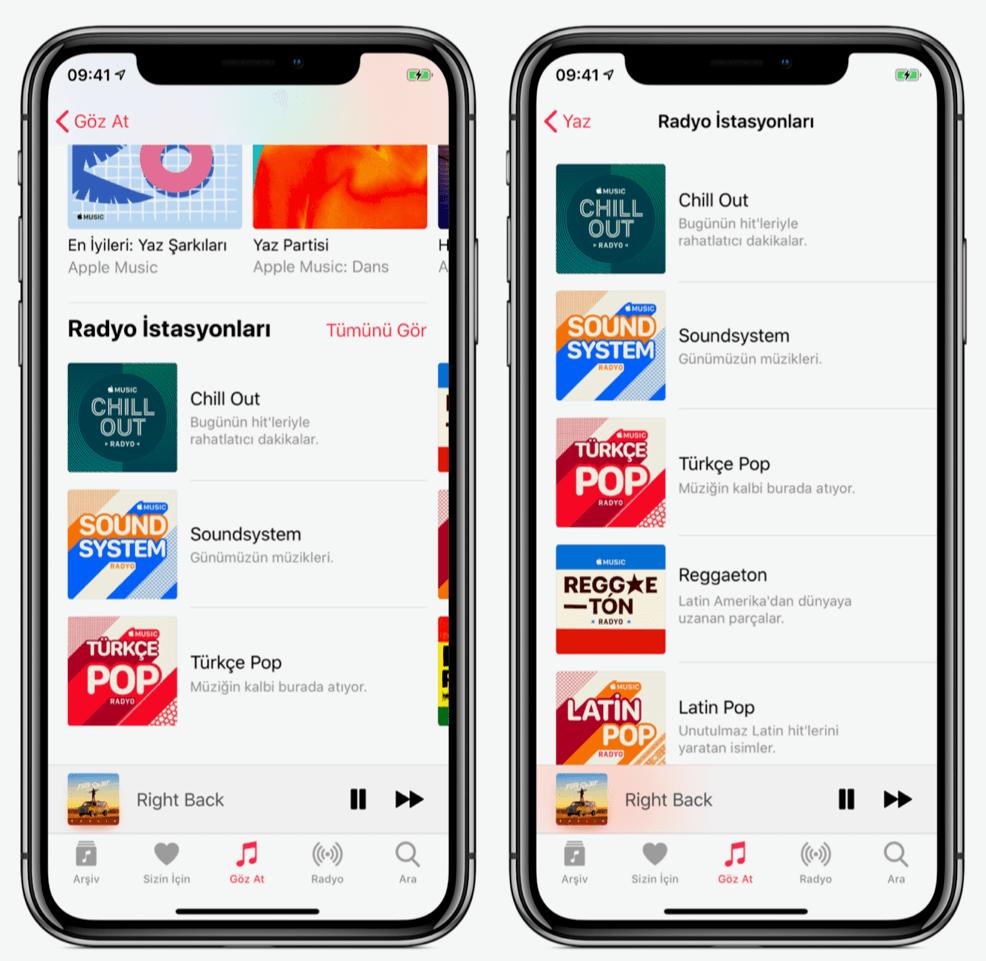 apple music yaz radyo istasyonları