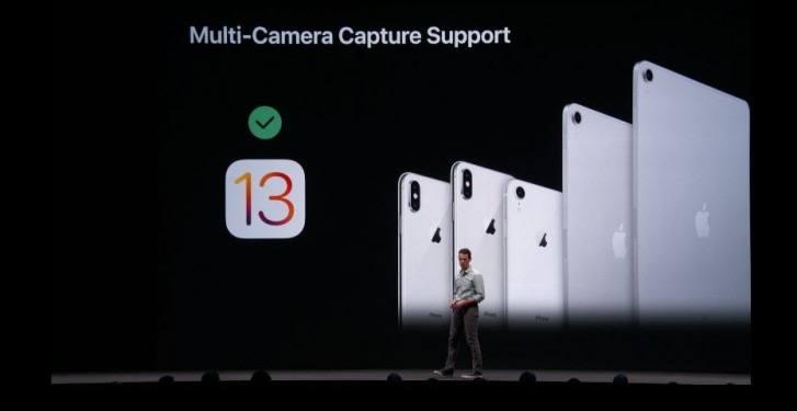 ios 13 çoklu kamera