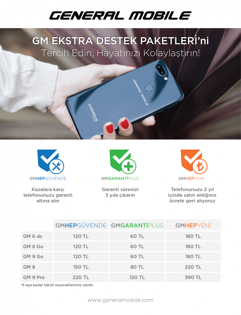 general mobile gm ekstra destek paketi