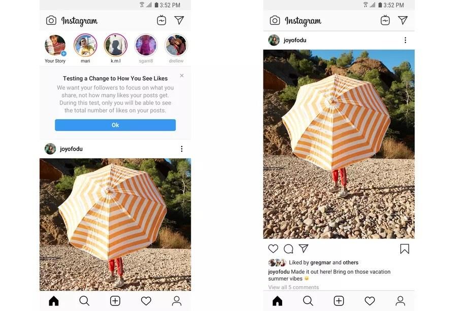 instagram beğeni sayısı gizleme