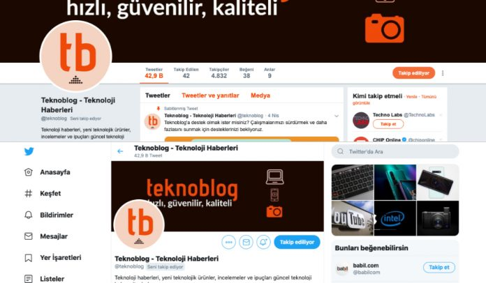 twitter eski tasarım yeni tasarım