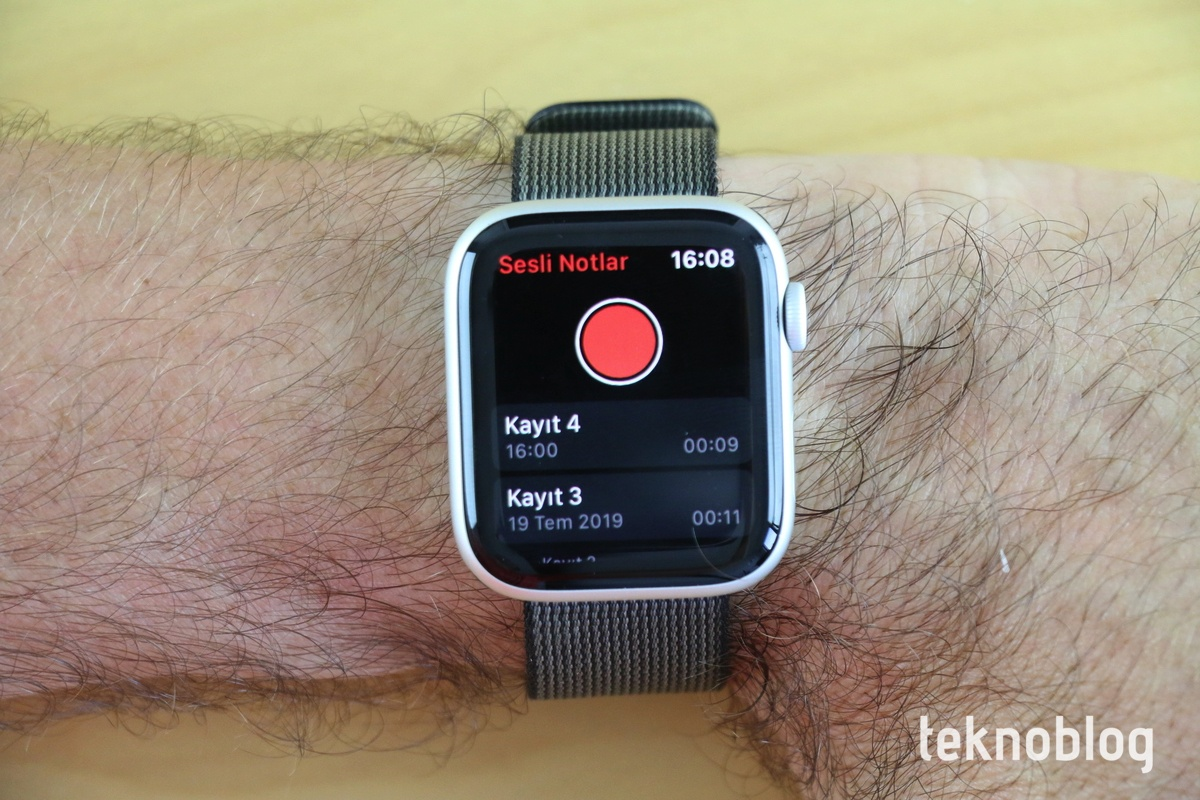 apple watch sesli notlar watchos 6