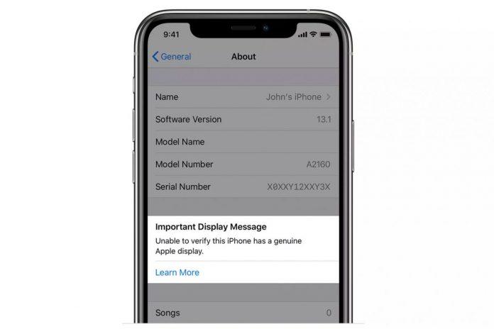 iphone 11 ekran değişimi bildirim