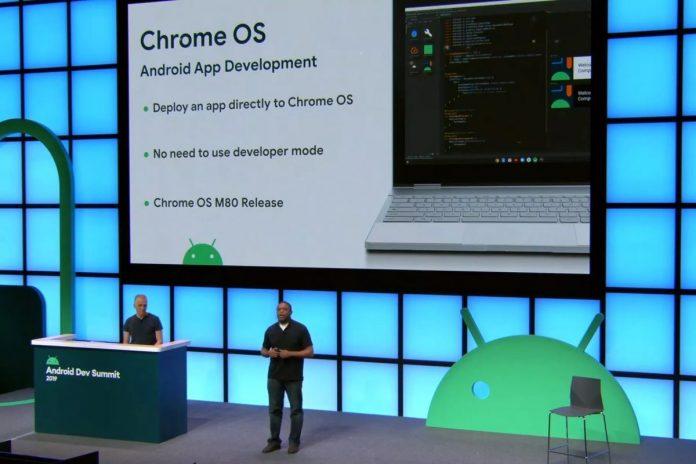 chrome os android uygulama yükleme