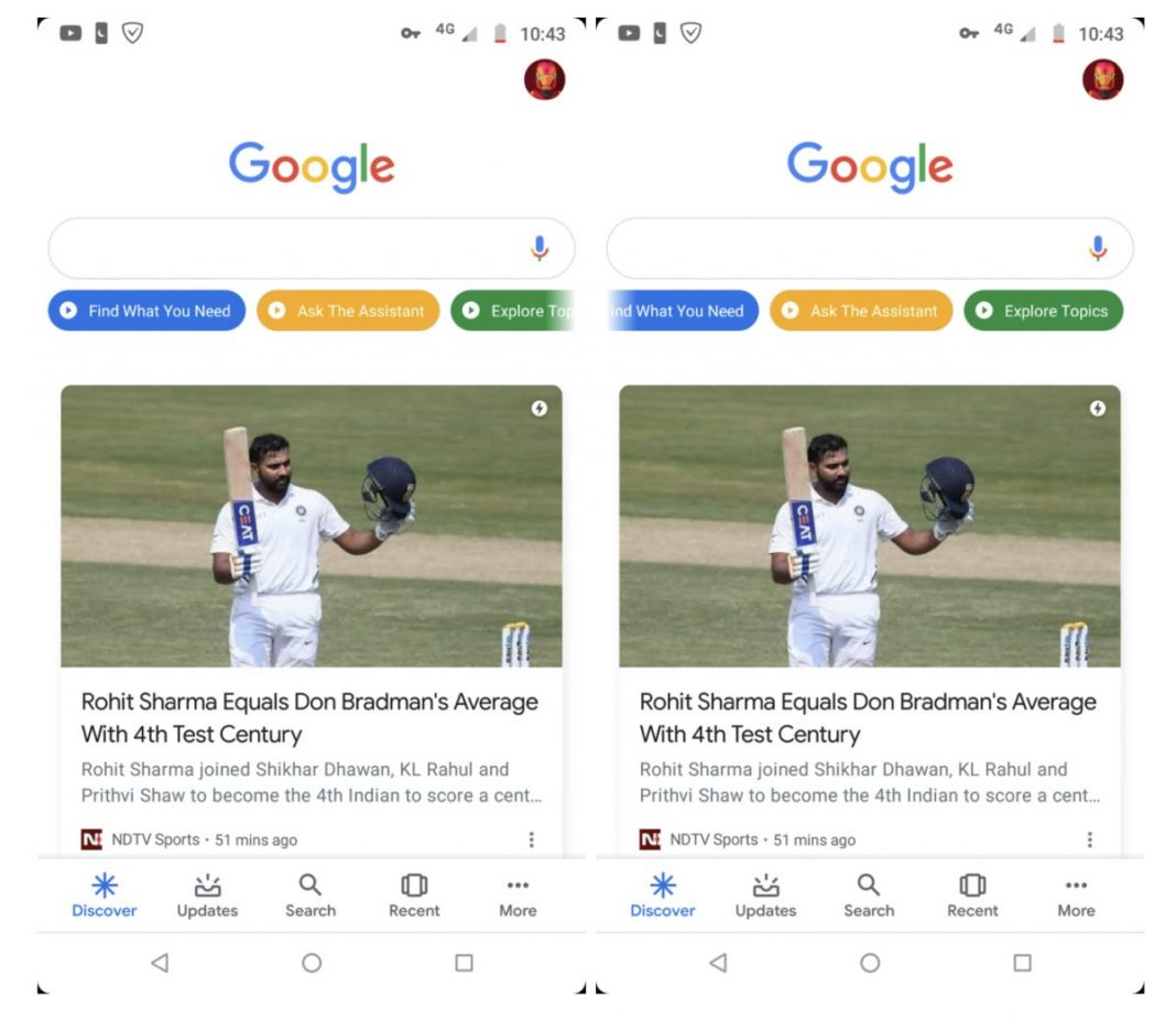 google arama keşfet