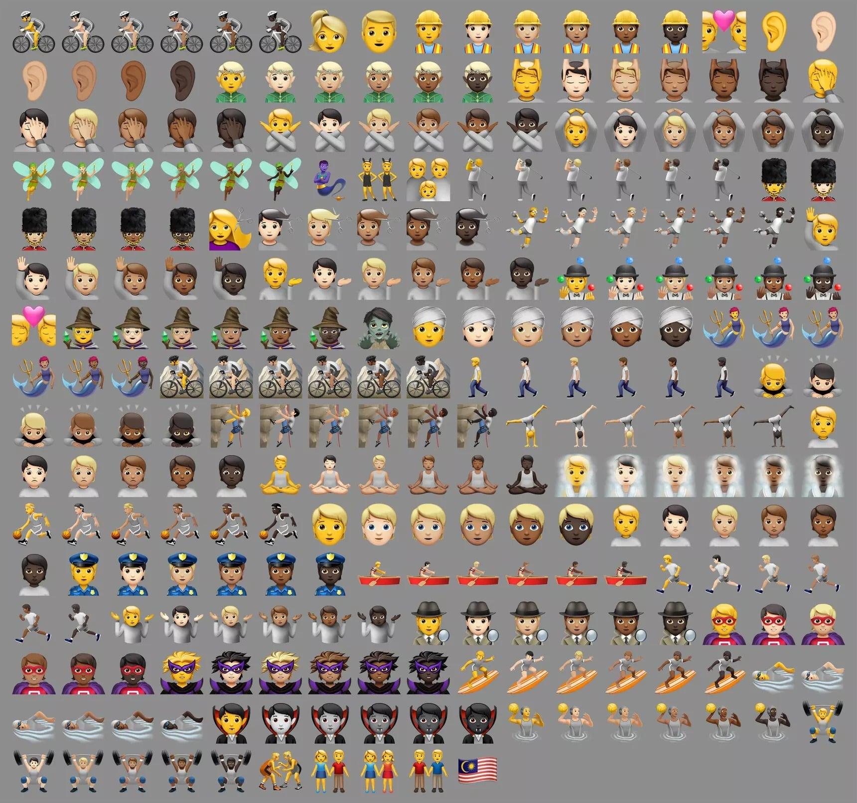 ios 13.2 emoji simgeleri