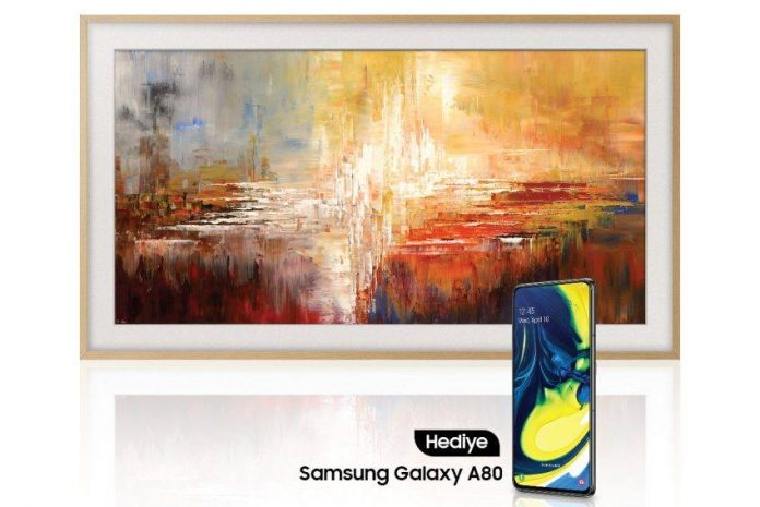 samsung qled tv the frame galaxy a80