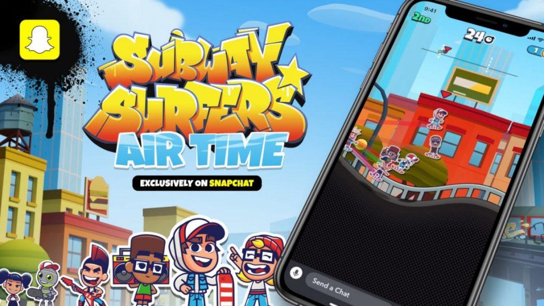 subway surfers airtime snapchat oyun