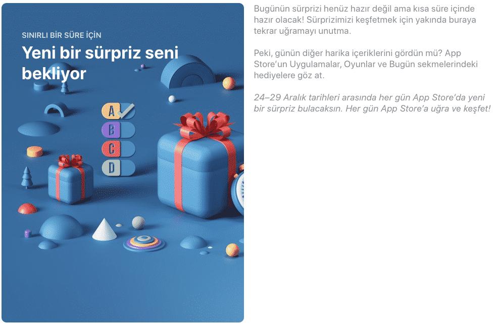 app store yeni yıl sürprizleri