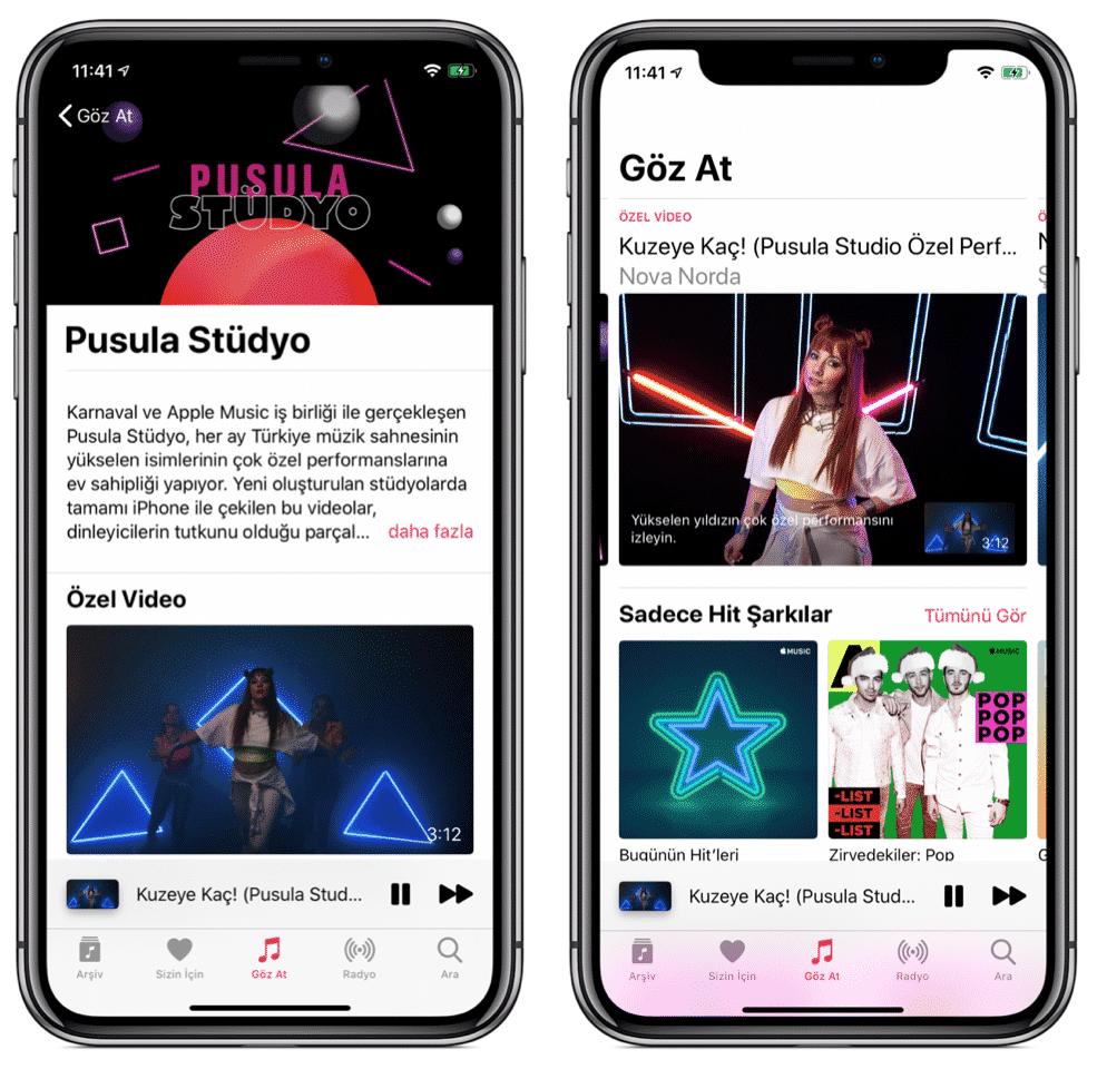 pusula stüdyo apple music
