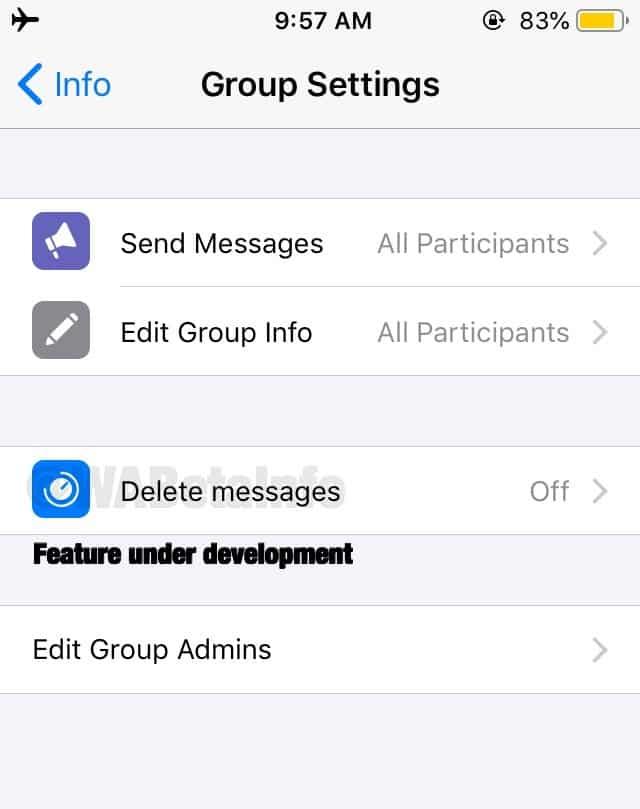 whatsapp otomatik silinen mesaj