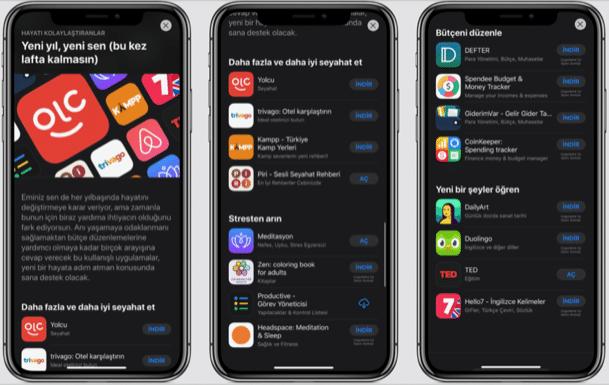 app store 2020 uygulama tavsiyeleri