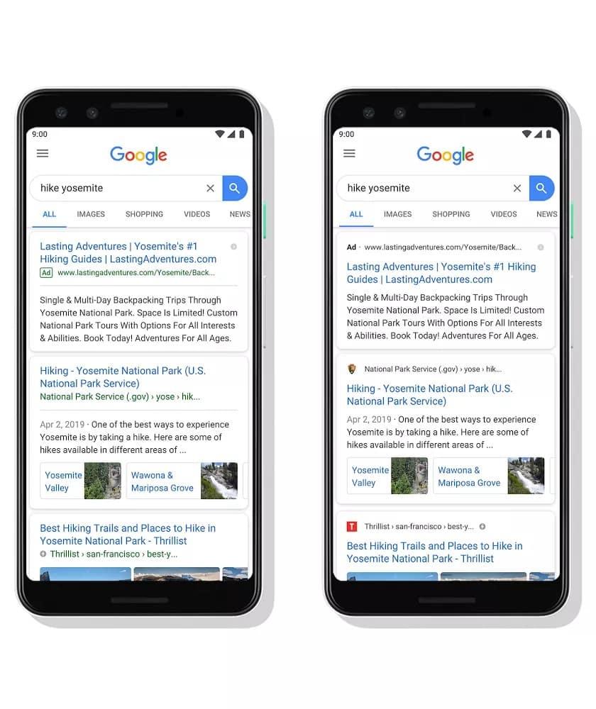 google mobil arama sonuçları