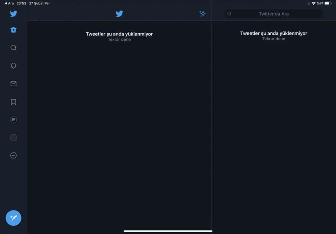 twitter erişim sıkıntısı