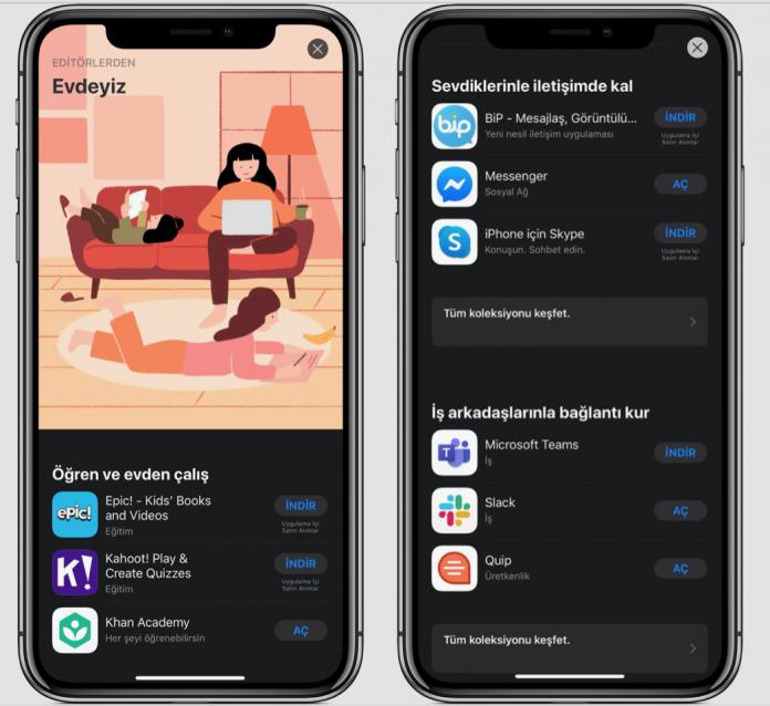 apple app store evdeyiz uygulama tavsiyeleri