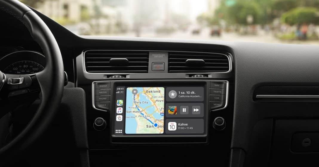 apple carplay kontrol paneli