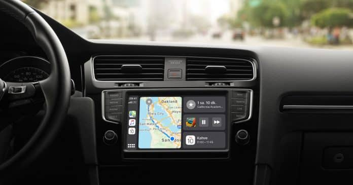 apple carplay kontrol paneli