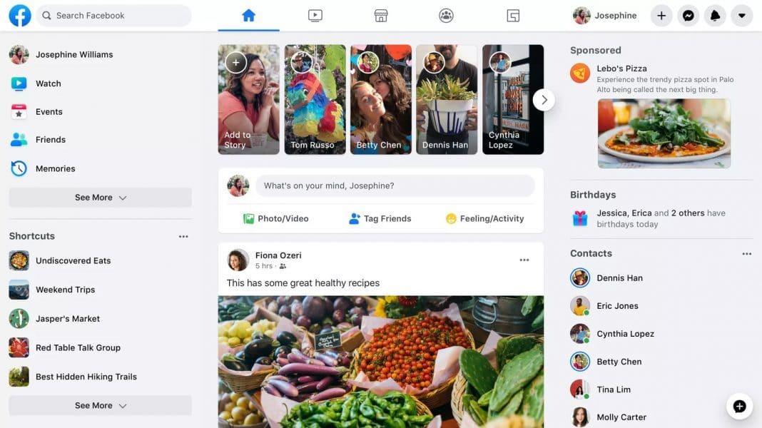 facebook yeni tasarım