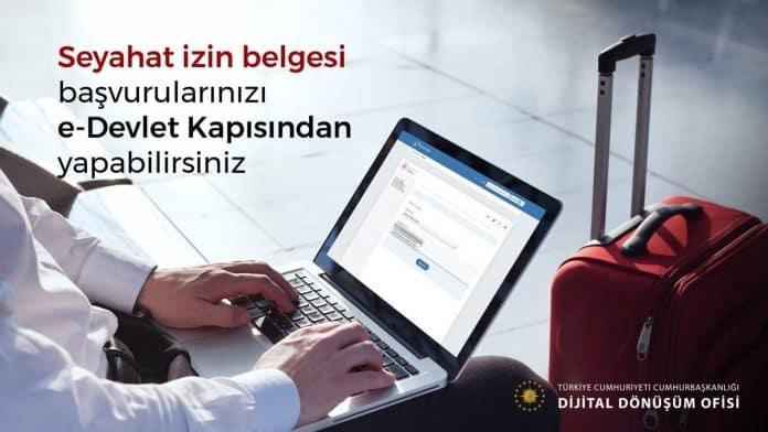 seyahat izin belgesi e-devlet