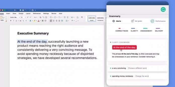 grammarly microsoft word mac