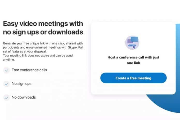 skype hızlı video konferans