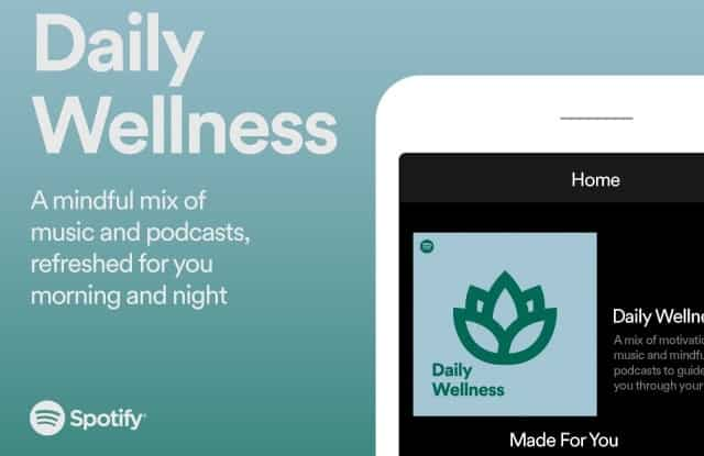spotify daily wellness