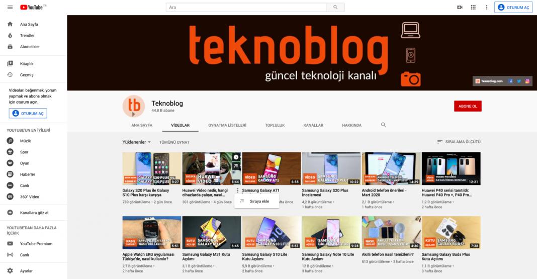 youtube masaüstü web sitesi