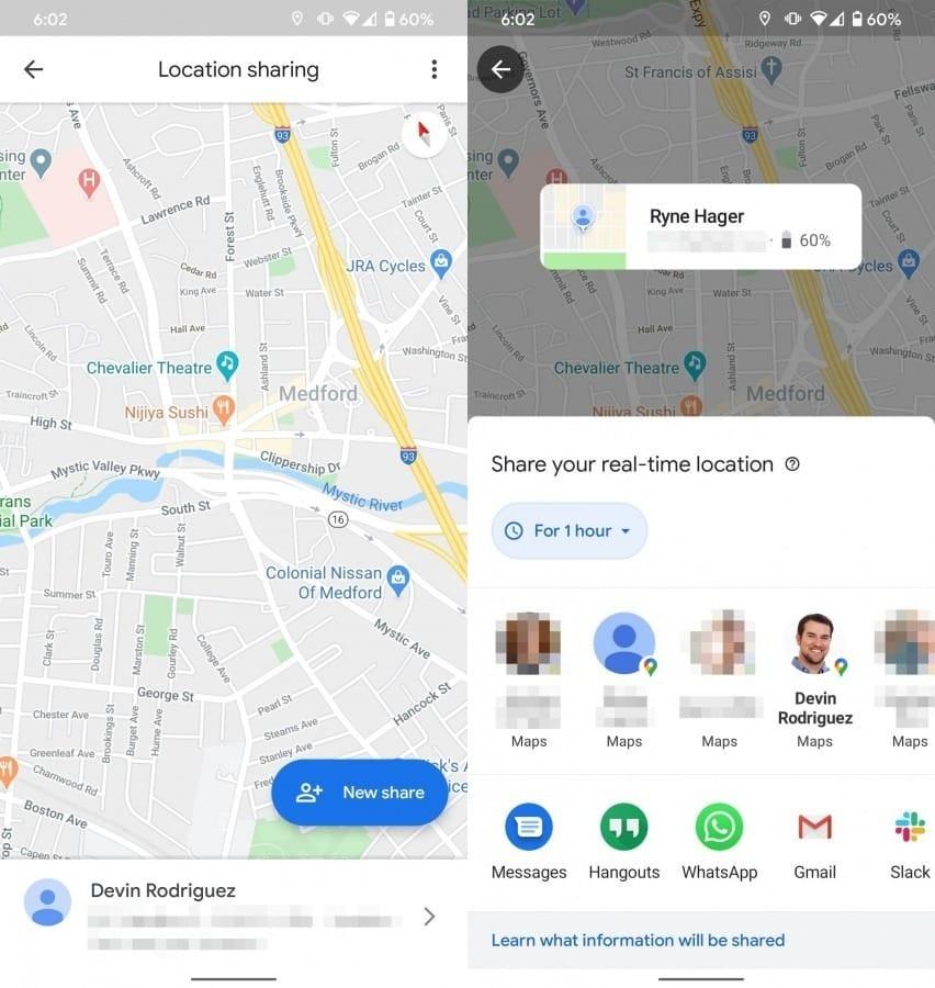 google haritalar konum paylaşımı