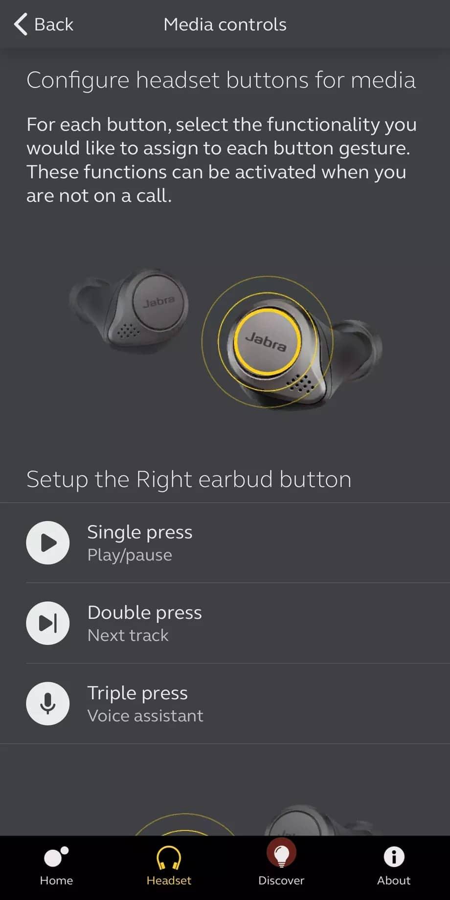 Jabra Elite 75t kablosuz kulaklık için yeni özellikler