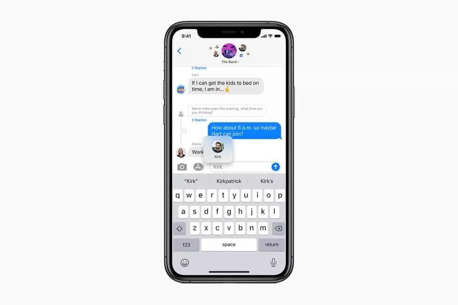 apple mesajlar ios 14