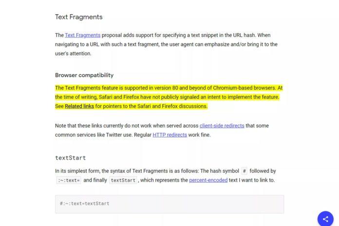 Chrome eklentisi ile bir web sayfasındaki yazıya doğrudan bağlantı verin