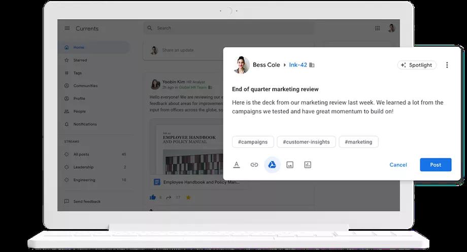 Google Plus yerine sunulan Currents G Suite kullanıcılarına açılıyor