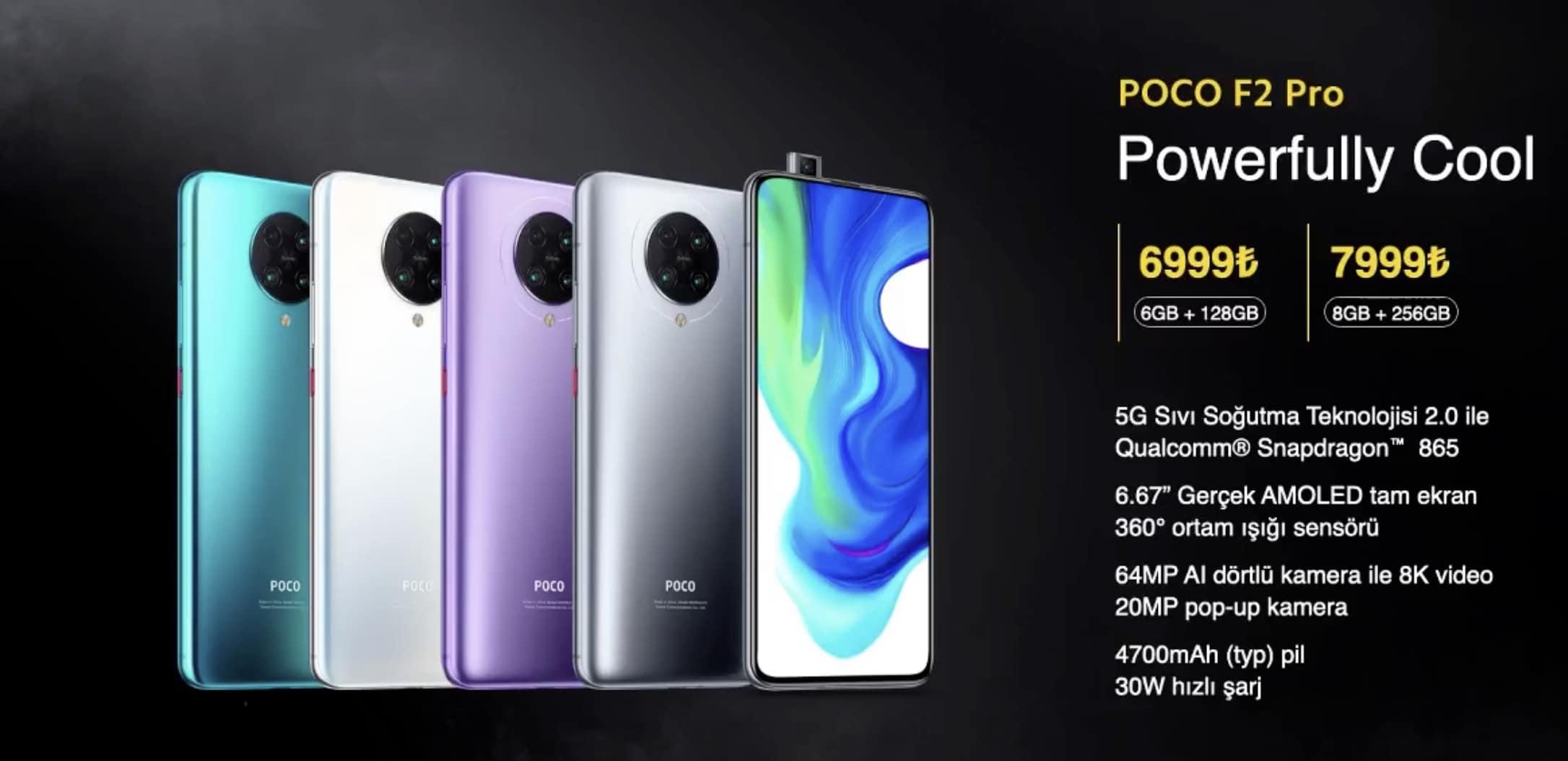 Merakla beklenen Poco F2 Pro Türkiye fiyatı belli oldu