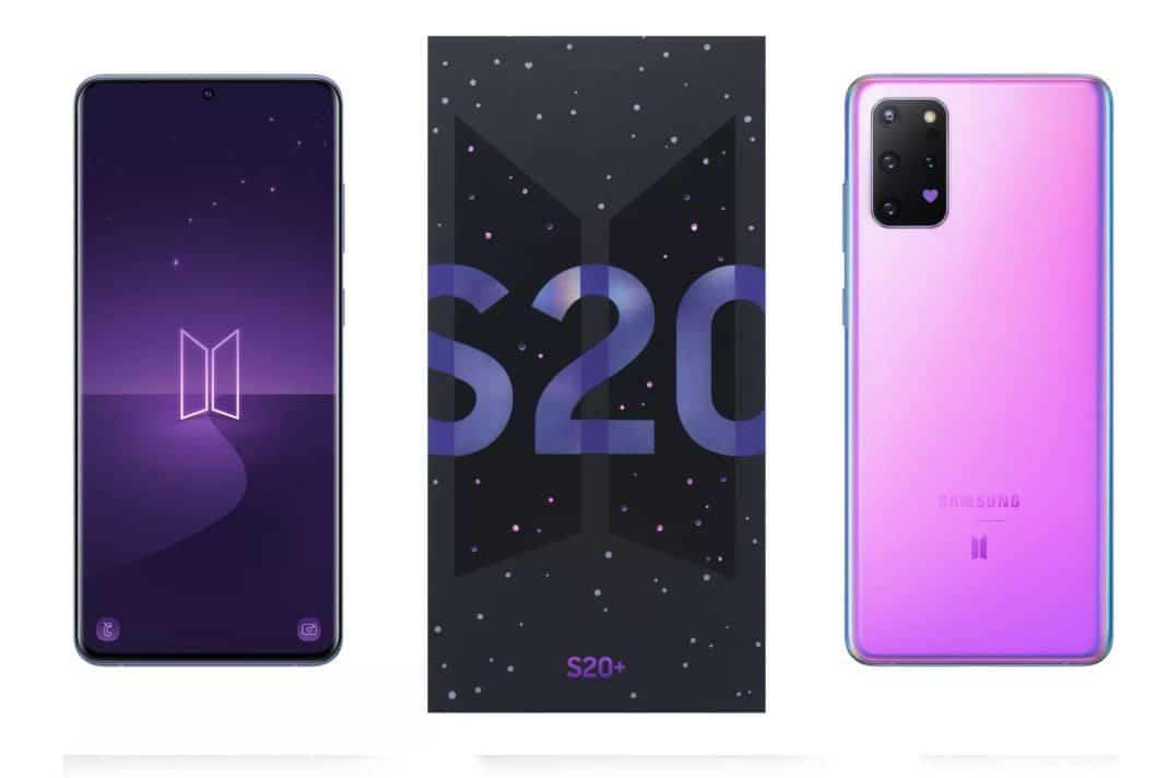 Samsung'dan BTS müzik grubu için özel Galaxy S20 Plus ve Galaxy Buds Plus