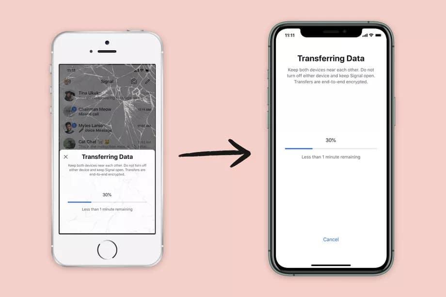 Signal iki iPhone arasında sohbet geçmişini taşıma özelliğini getirdi