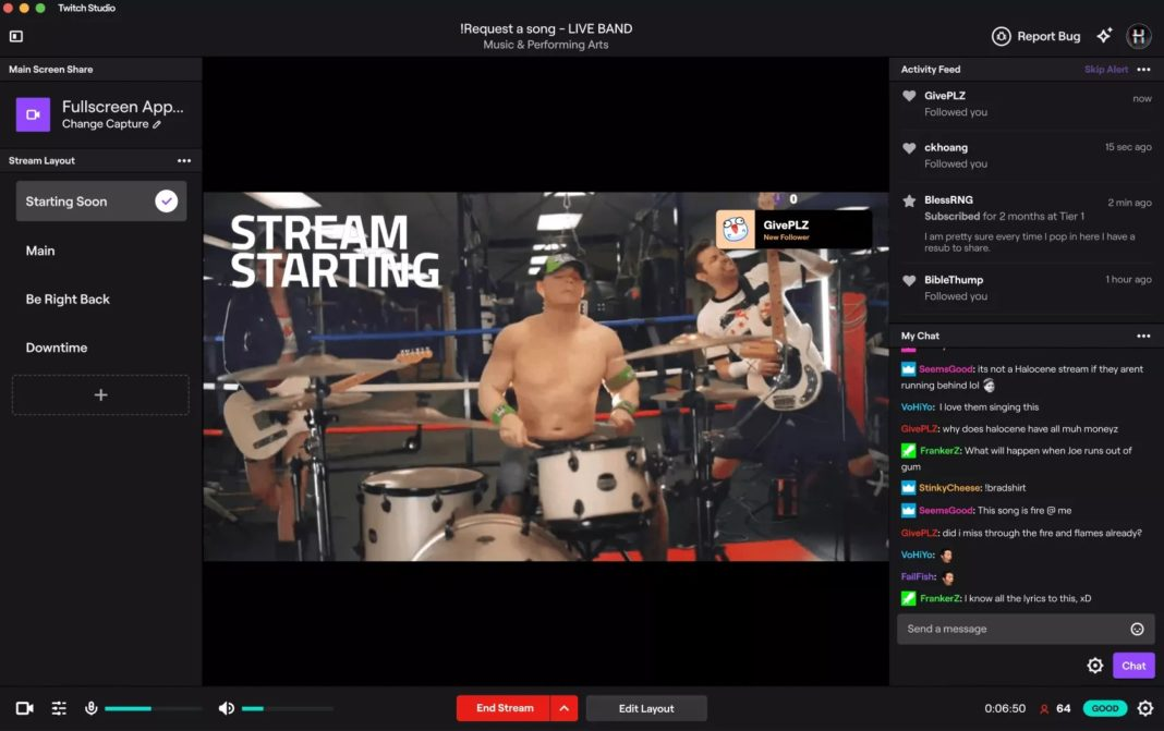 Twitch Studio Mac canlı yayın yazılımı beta olarak yayınlandı