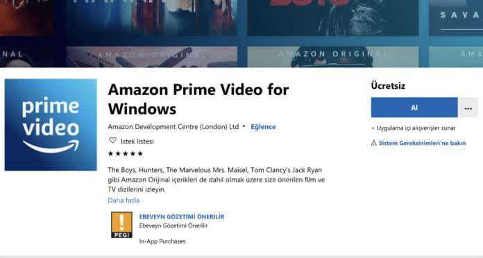 Amazon Prime Video'nun Windows 10 uygulaması çıktı