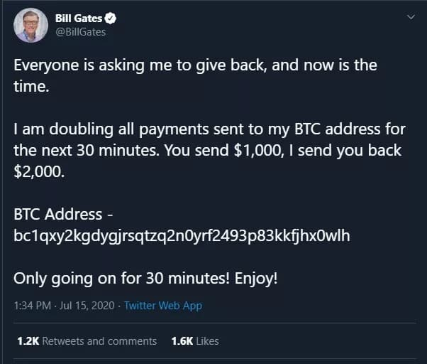 Elon Musk ve Bill Gates'in Twitter hesaplarından bitcoin dolandırıcılığı girişimi
