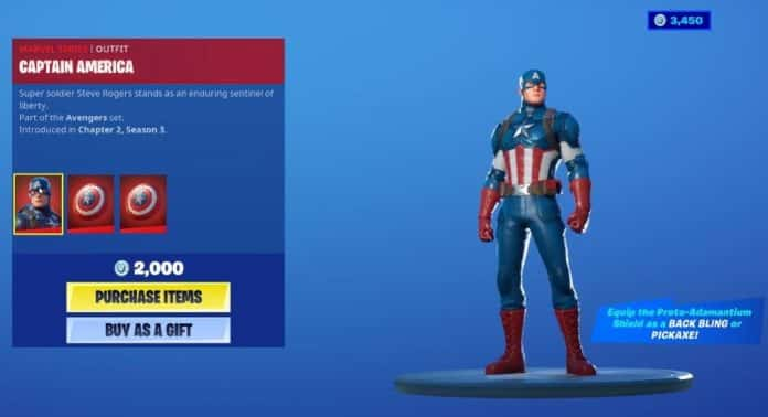 fortnite captain america