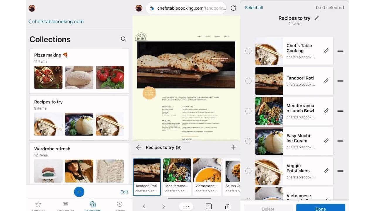 Microsoft Edge iOS ve Android uygulamalarına Koleksiyonlar geliyor