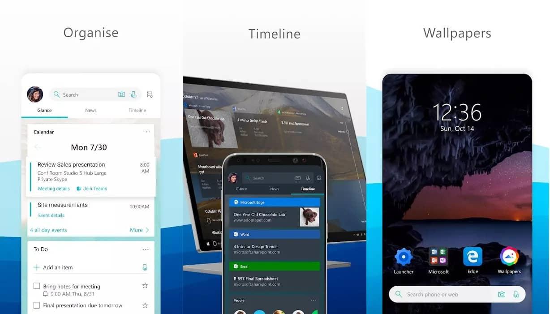 Microsoft Launcher Android başlatıcısına kapsamlı güncelleme