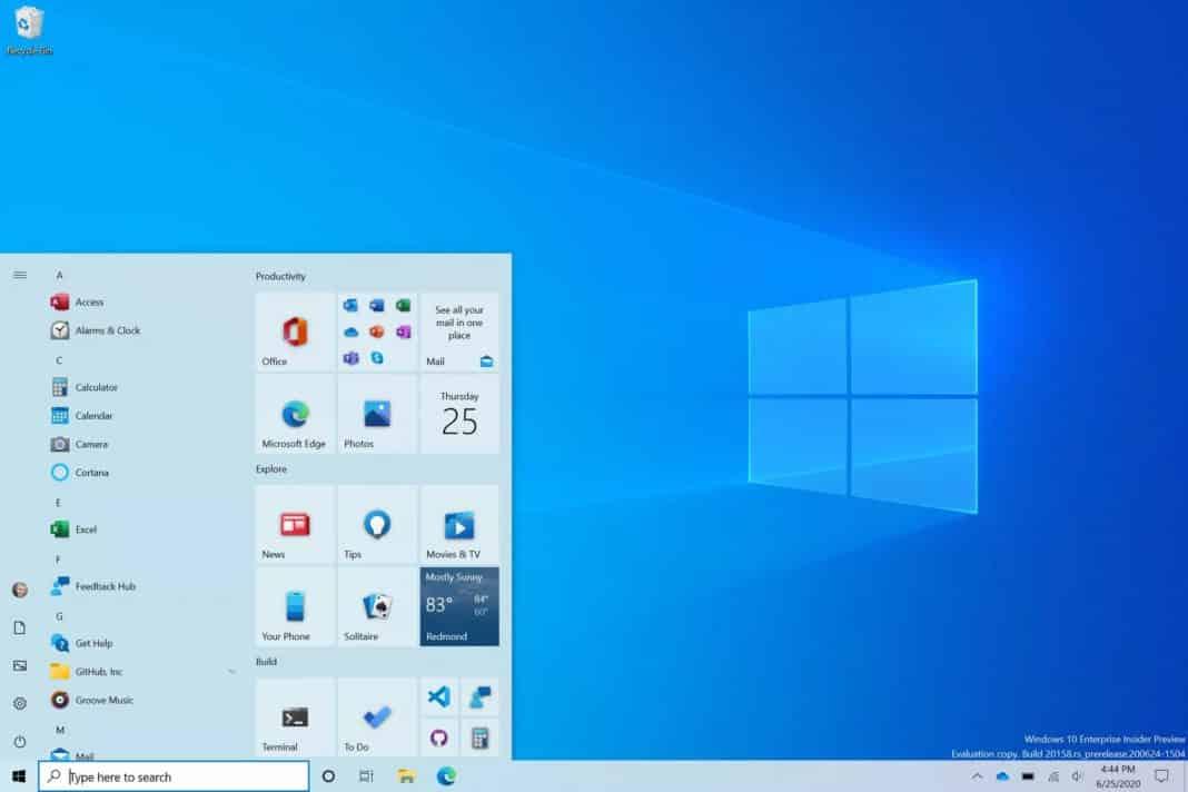 Microsoft yeni Başlat menü tasarımını ve güncellenen Alt-Tab işlevini ilk kez gösterdi