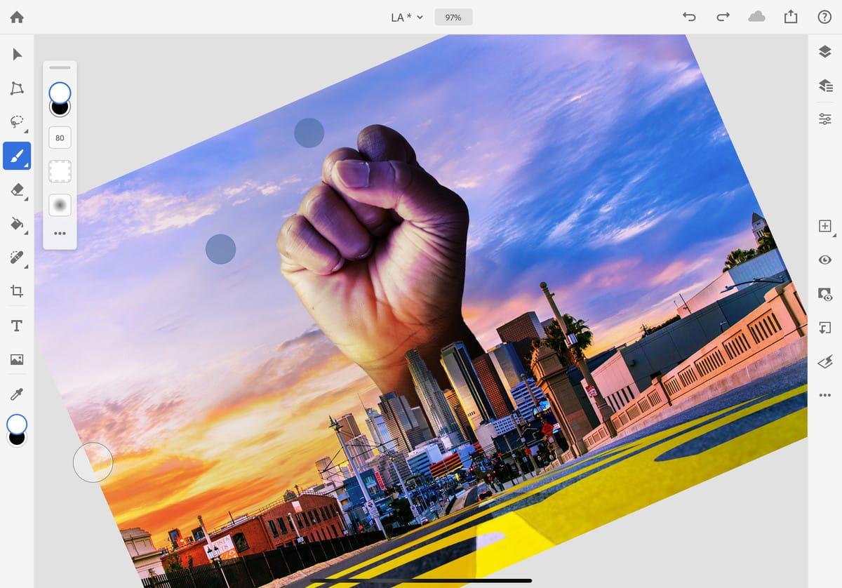 Photoshop iPad uygulamasına masaüstünden yeni özellikler