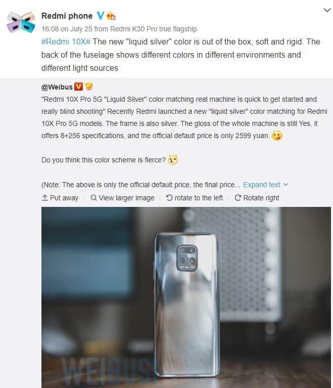 Redmi K30 Pro 5G ve Redmi 10X Pro 5G için yeni renk seçenekleri