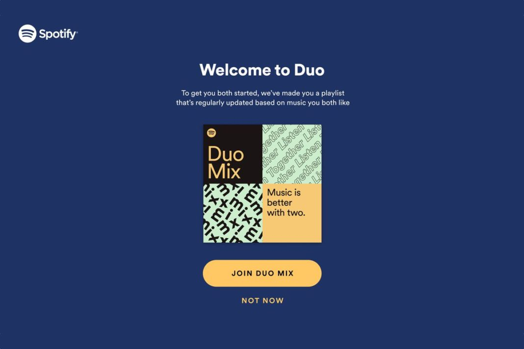 Spotify Premium Duo aboneliği çiftler için ideal