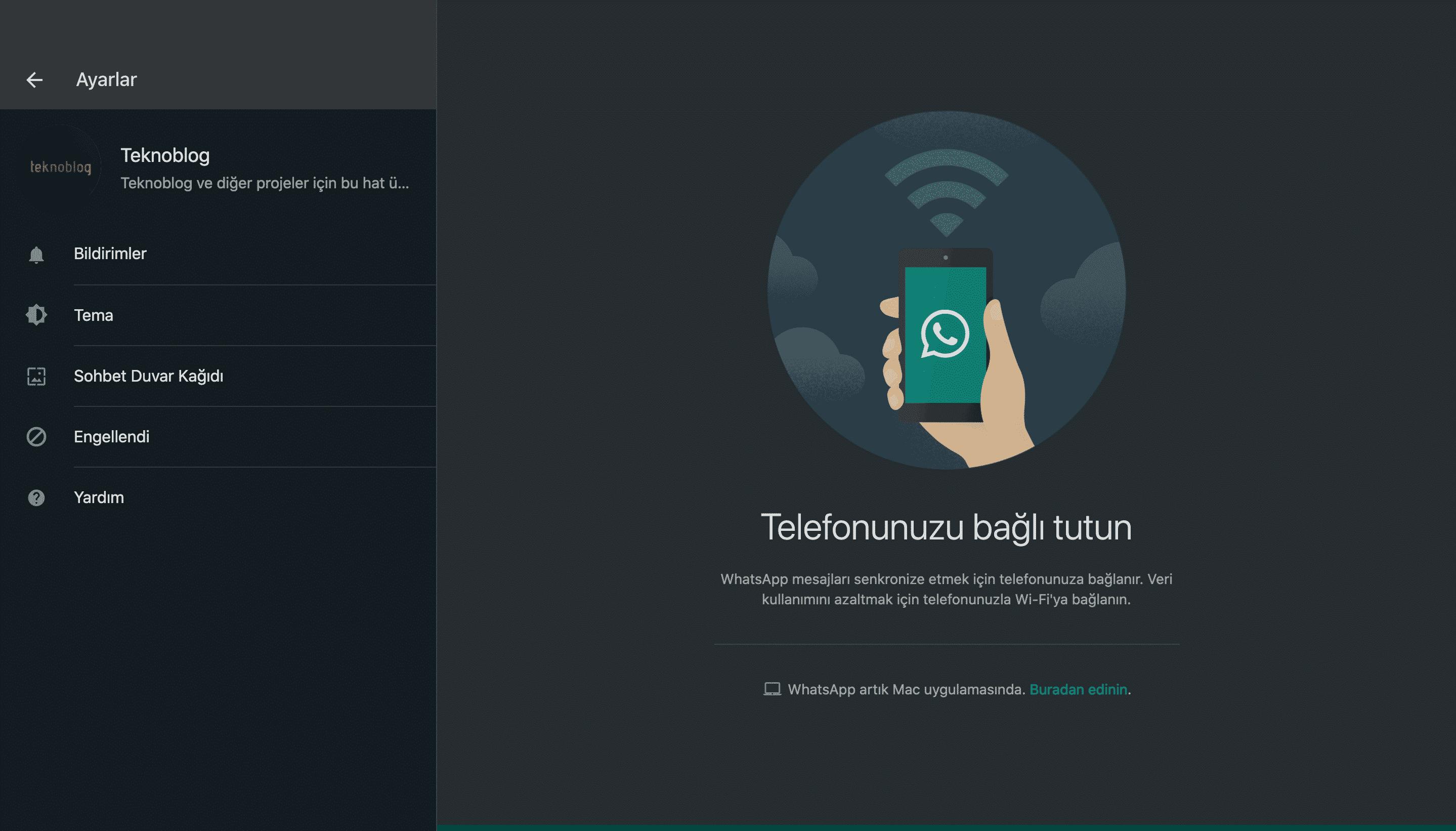 WhatsApp web ve masaüstü için koyu mod seçeneği açıldı