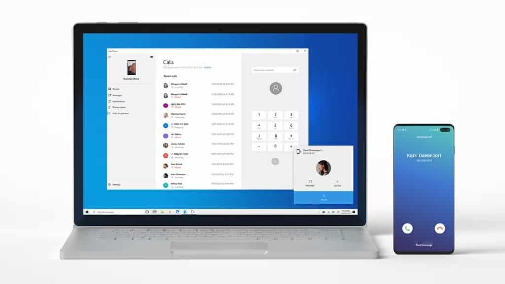Microsoft Telefonunuz uygulaması çok yakında telefonunuzdaki kişile