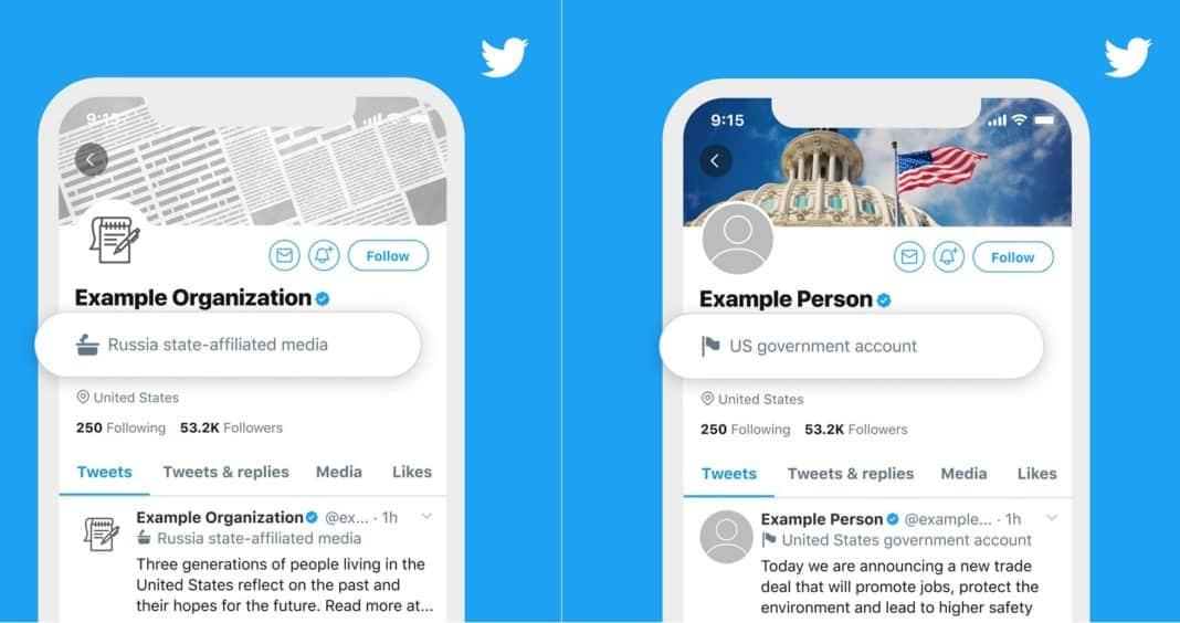 Twitter'dan devlet yetkilileri ve medya kuruluşları için özel etiket