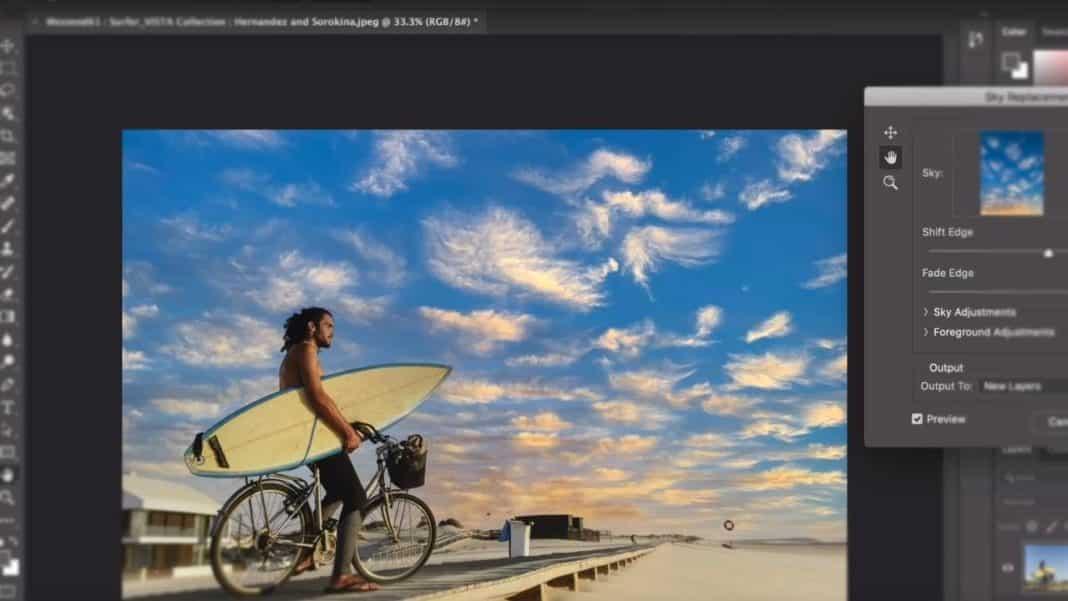 adobe photoshop gökyüzü değiştirme