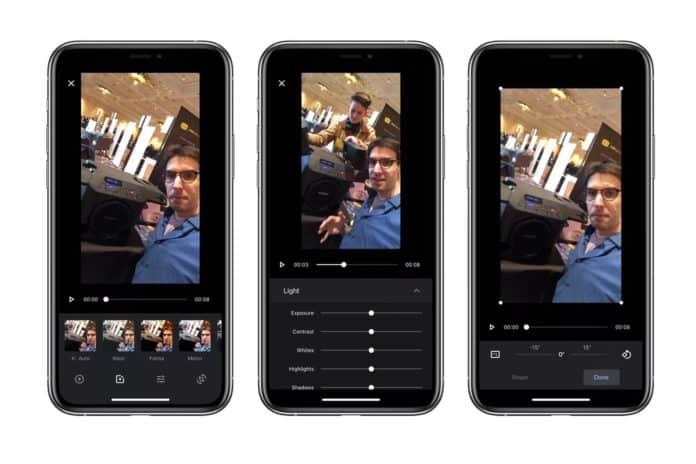 Google Fotoğraflar iOS uygulamasına yeni video düzenleme araçları